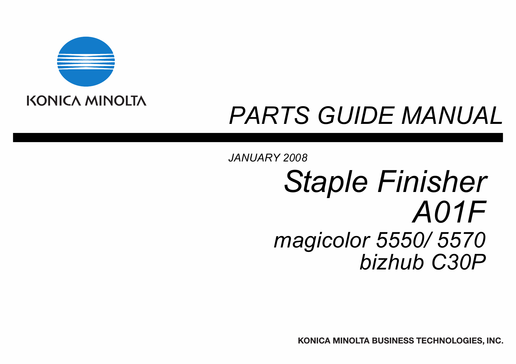 Konica-Minolta magicolor 5550 5570 C30P Staple-Finisher